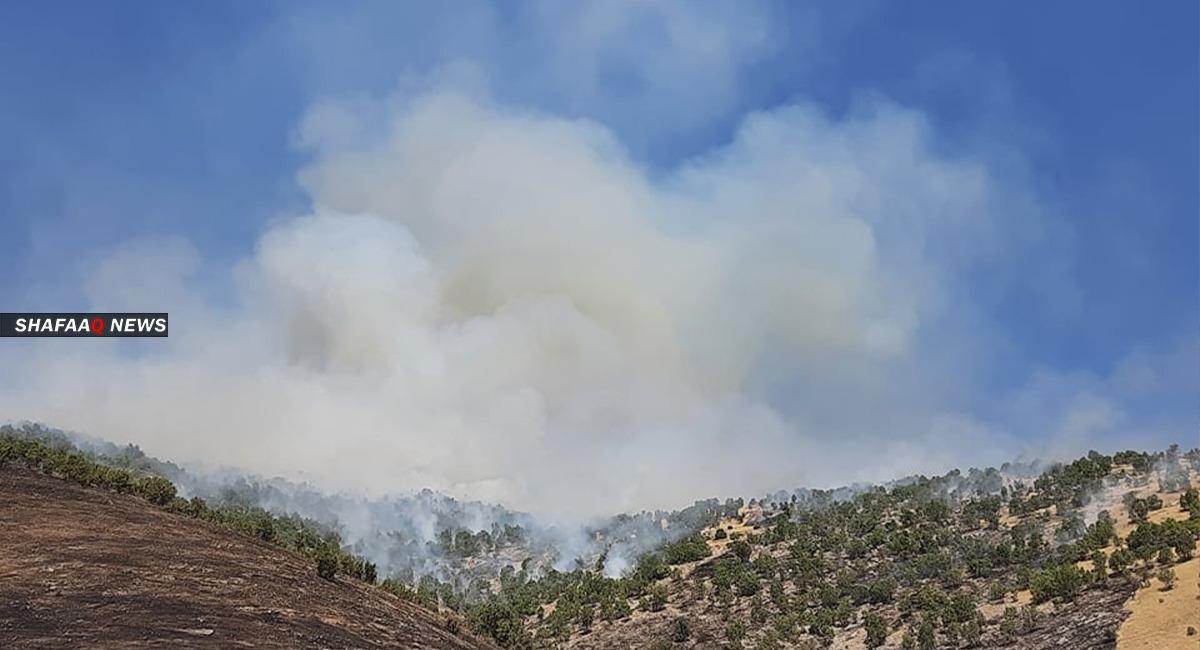 شهود: قصف تركي يتسبب بحرائق في محيط قريتين بدهوك