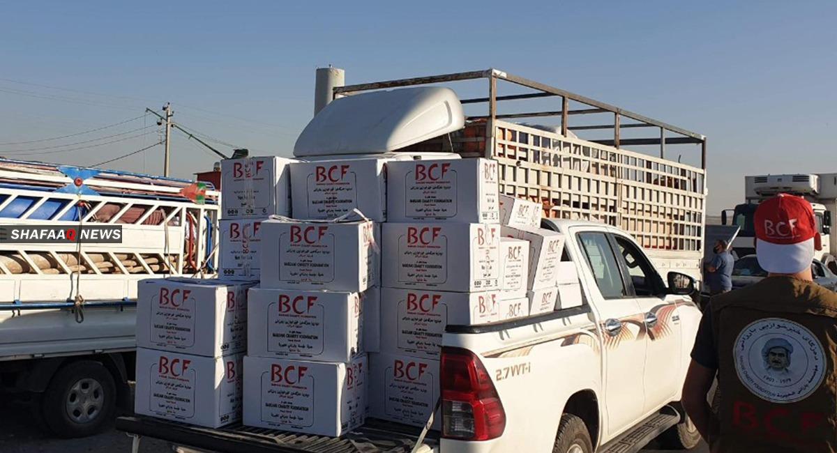 صور من دعم مؤسسة بارزاني للنازحين العائدين الى سنجار
