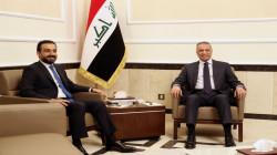 """الكاظمي والحلبوسي يبحثان الانتهاء """"سريعاً"""" من قانون الانتخابات"""