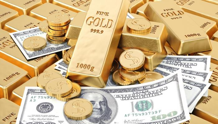 Gold rises as the dollar decline