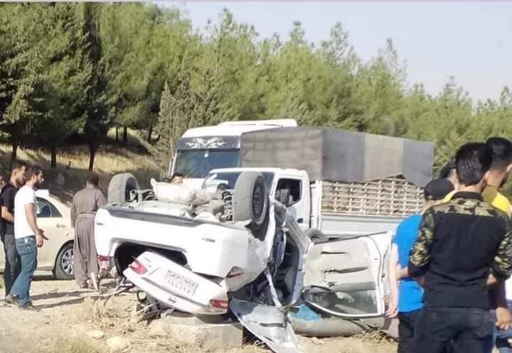 حادث سير مروّع يخلف 8 ضحايا في السليمانية.. صور