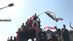 صور.. المئات يحيون ذكرى تظاهرات تشرين في بغداد