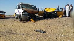 وفاة خمسة اشخاص من أسرة واحدة في حادث مروع جنوبي العراق