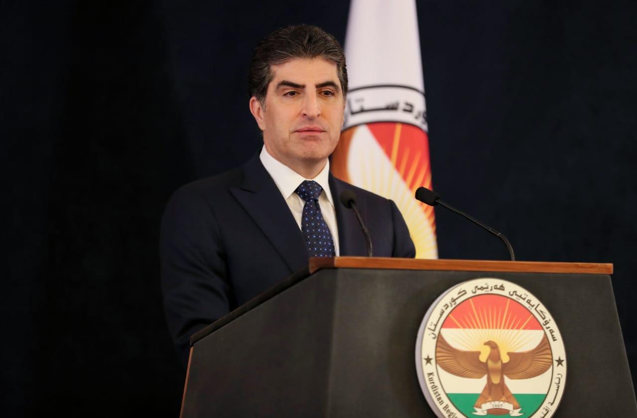 رئيس اقليم كوردستان يدين حرق مقر الديمقراطي الكوردستاني ببغداد
