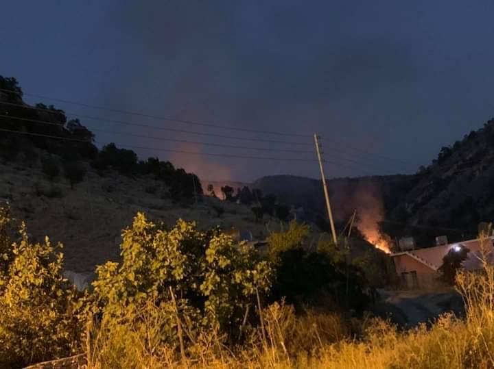 """الطائرات التركية تقصف بـ""""كثافة"""" منطقة مسيحية وجبلا شمال دهوك"""