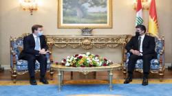 بارزاني للسفير البريطاني: بإمكان المجتمع الدولي إرساء الاستقرار في العراق