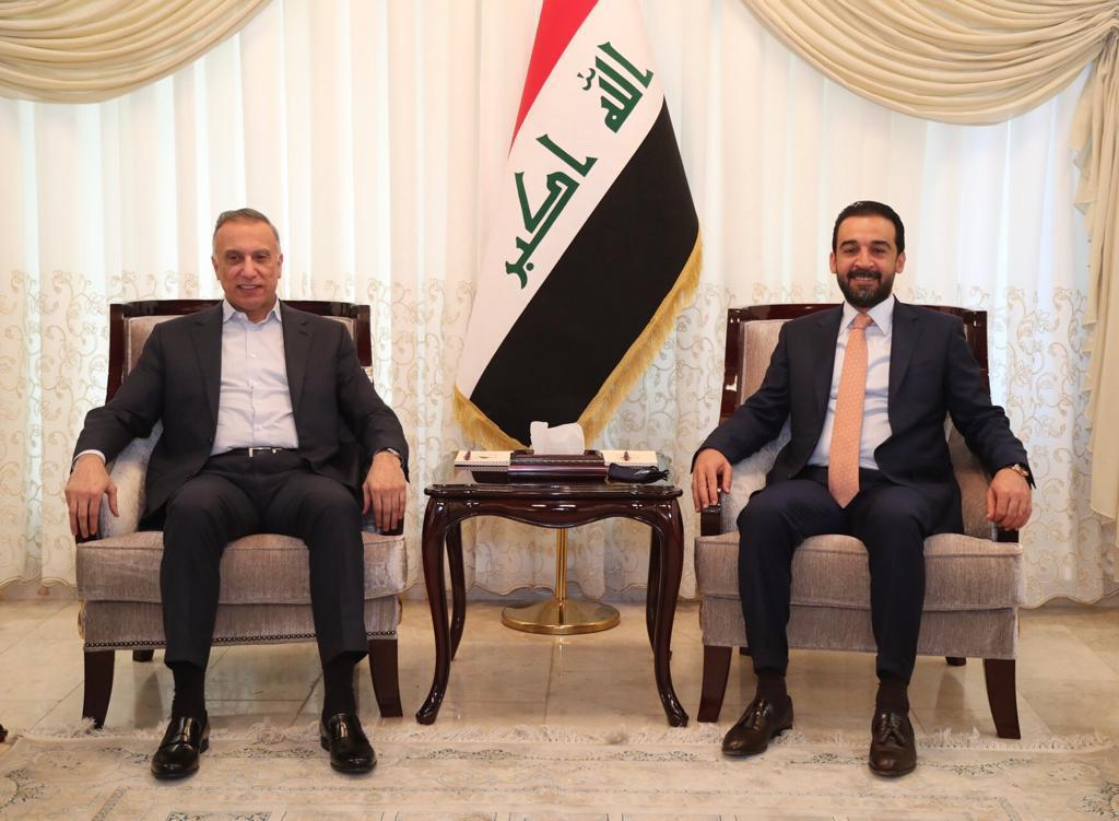 Al-Halbousi receives Al-Kadhimi to discuss the country's latest developments