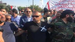 العشرات من مقاتلي وقادة الحشد يتظاهرون في كركوك.. صور