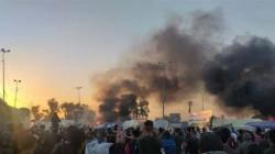 اضرام النيران بخيام لمحتجين في بابل