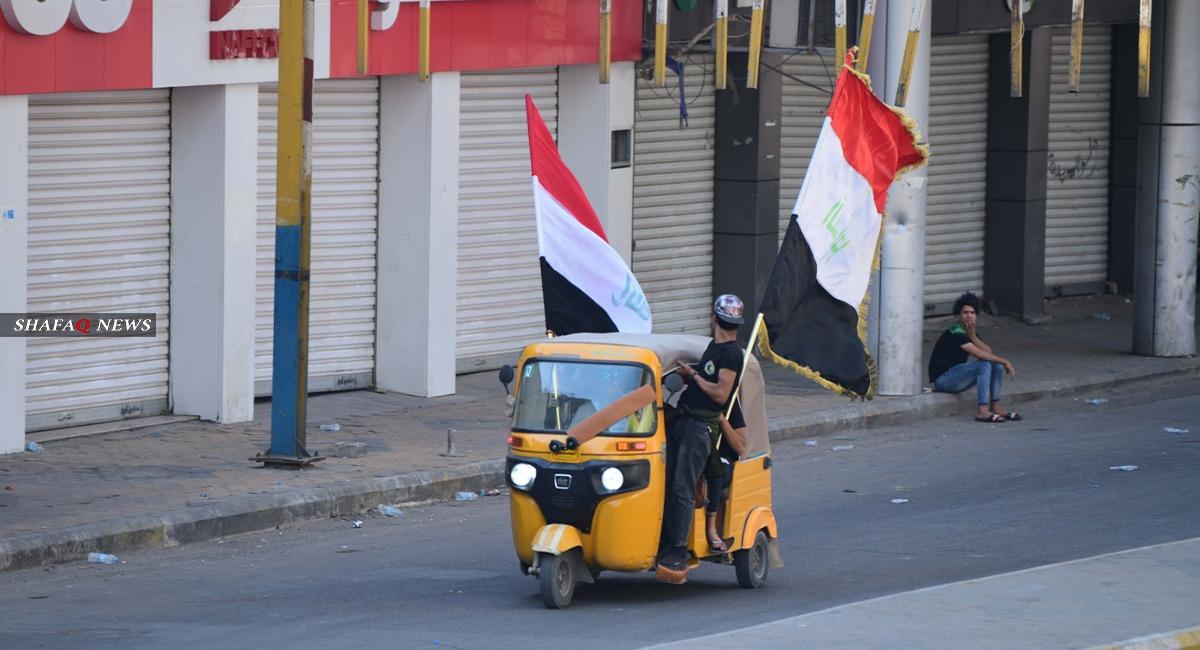 بغداد.. مناوشات بين متظاهرين والأمن قرب التحرير ومحتجون يقطعون طريقاً حيوياً (صور)