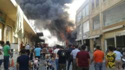 نيران تلتهم سوق الدراجات في اربيل والحريق يمتد لمحال تجارية