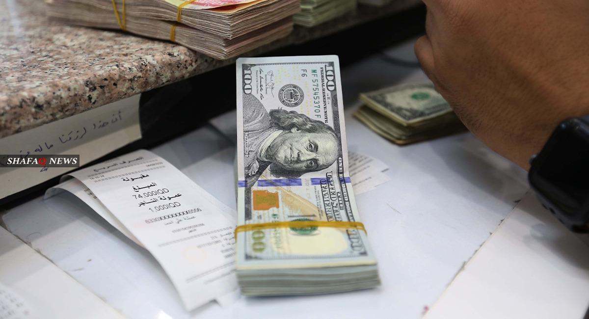 تراجع سعر الدولار أمام الدينار العراقي