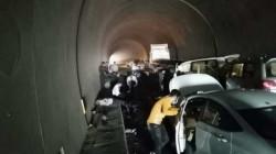 حادث تصادم مروّع بين 9 سيارات داخل نفق في أربيل