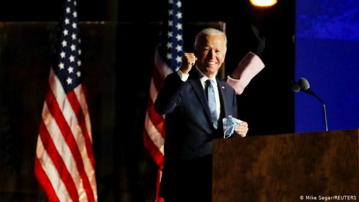 """بايدن يعلن """"فوزه"""" بالانتخابات الامريكية"""
