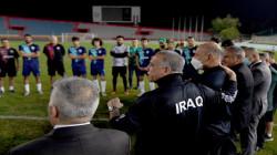 Al-Kadhimi attends the Iraqi football team's second training session
