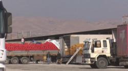 هەرێم کوردستان دەور ١٠٠ هەزار تەن لە جووراجور شمەک ئەرا توکیا کلەو کەێد