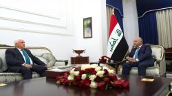 """برهم صالح يؤكد لرئيس الحشد ضرورة """"ضبط السلاح المنفلت"""""""