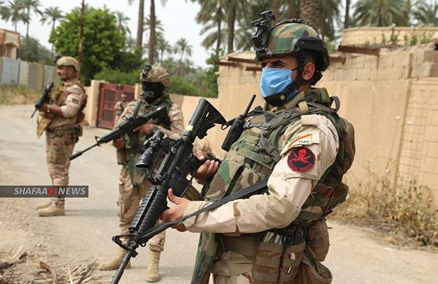 The Iraqi army destroys an ammunition warehouse in Diyala
