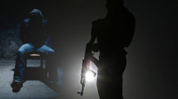 Unknown gunmen kidnap a policemen and set fire to his house