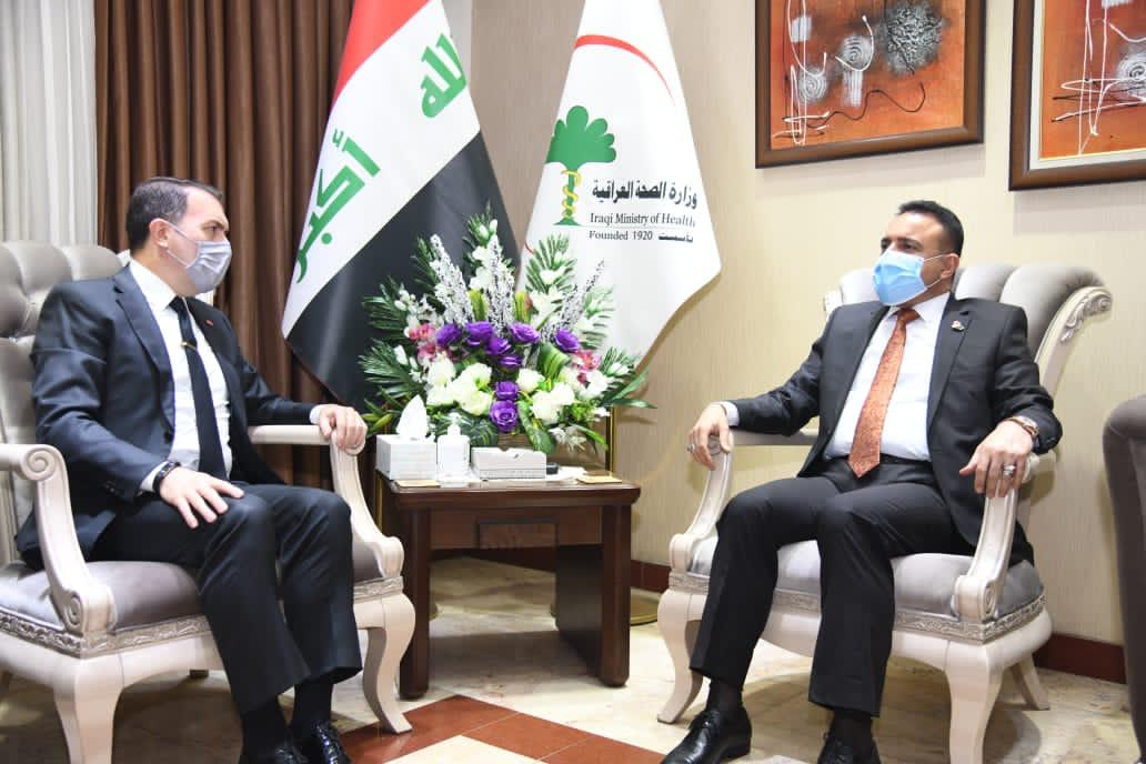The Iraqi Minister of health meets the Turkish ambassador to Baghdad