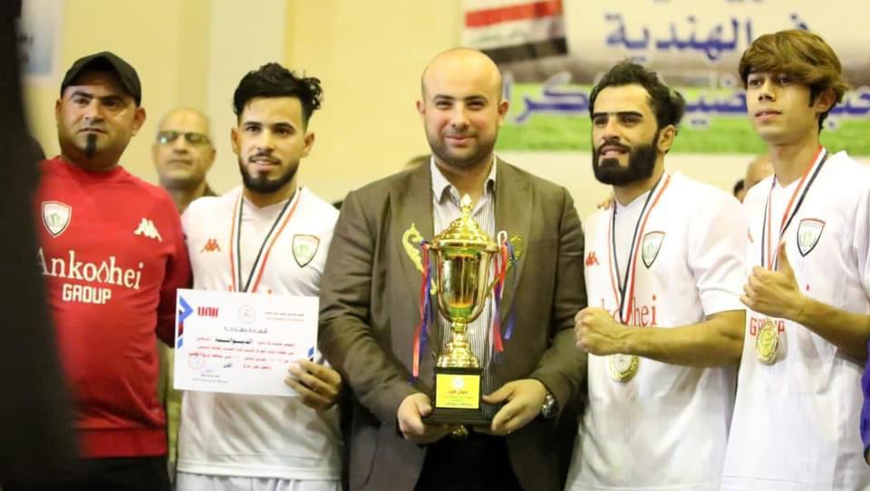 الديوانية يتوج بطلا لأندية العراق لتنس كرة القدم