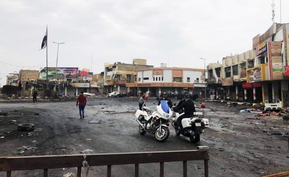 نشر اطواق مسلحة من الجيش والشرطة حول ساحة الحبوبي في الناصرية