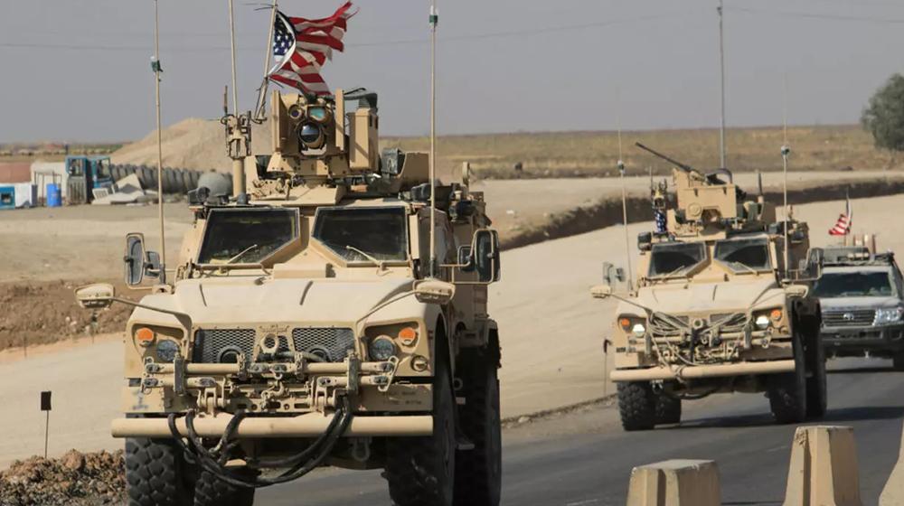 An international coalition convoy enters Syria through the Kurdistan region