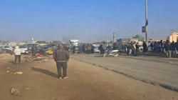 محتجون يقطعون طريق بغداد – إقليم كوردستان ويهددون بالتصعيد