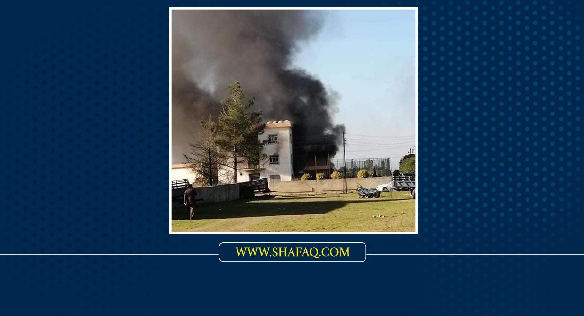 سقوط متظاهر ضحية أثناء محاولة حرق مقار حزبية في جمجمال السليمانية