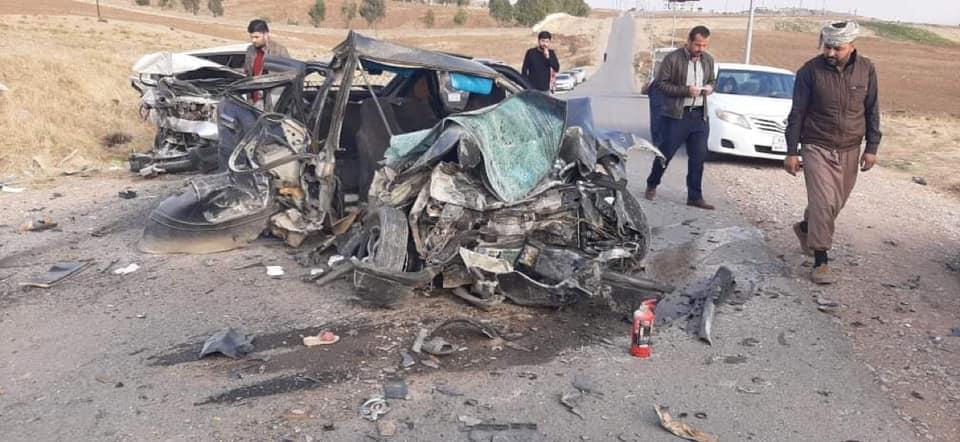 مصرع وإصابة 9 أشخاص بحادث مروّع في دهوك