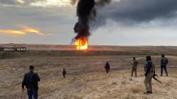 داعش يفجر بئرين نفطيتين في كركوك