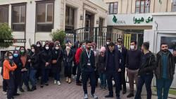 صور .. إضراب الكوادر الصحية في مستشفى السرطان بالسليمانية