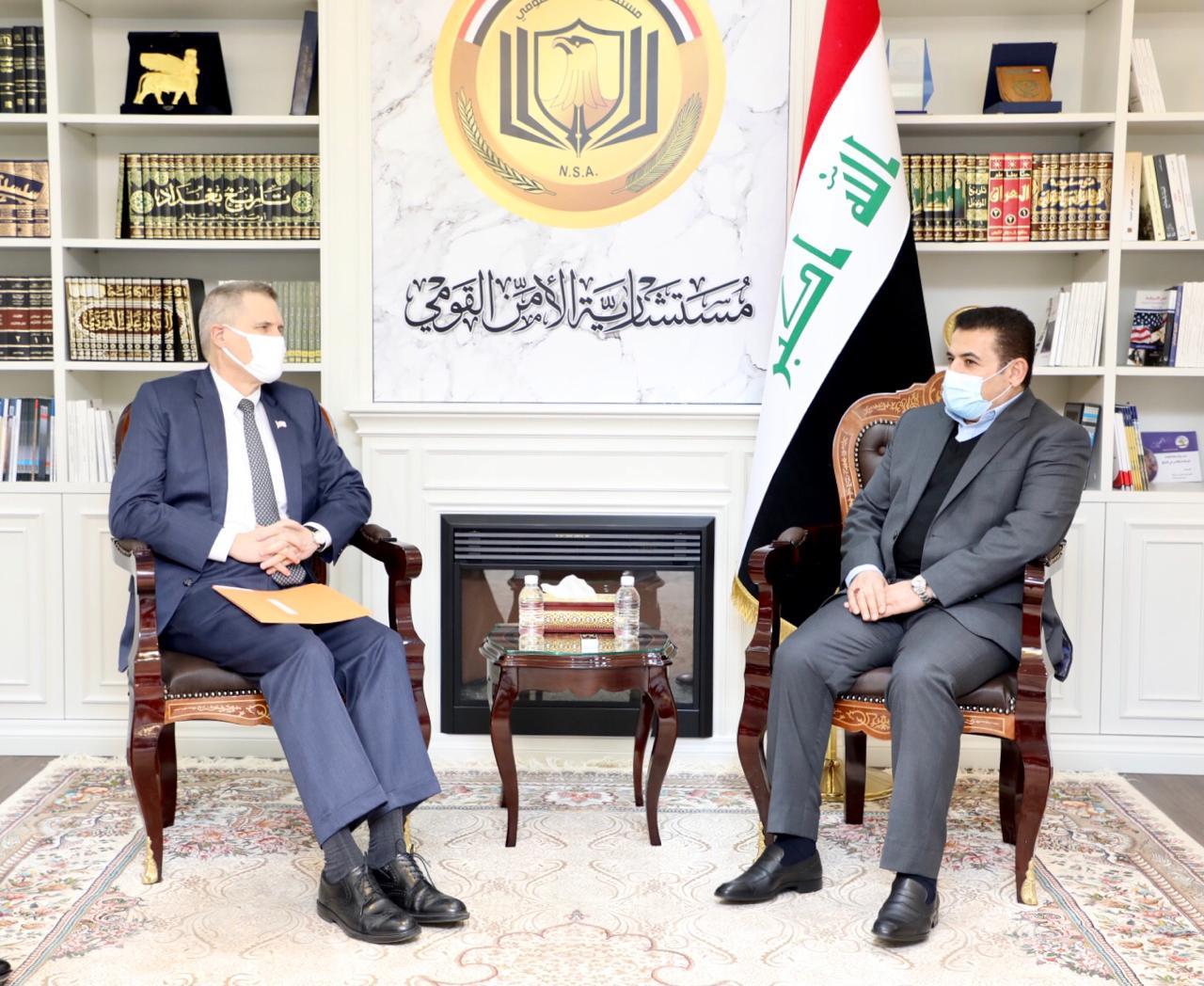 الأعرجي يبحث مع السفير تولر المضي بخفض القوات الأمريكية في العراق