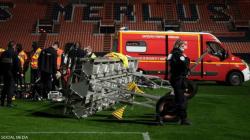 مباراة في الدوري الفرنسي تنتهي بحادث مأساوي