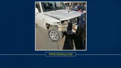 إصابة عنصرين بشرطة النجدة بحادث سير في ديالى