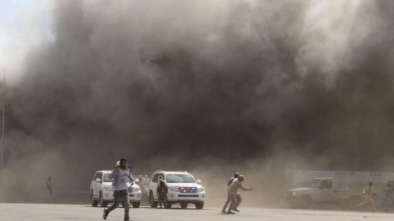 العراق يدين بشدة تفجير مطار عدن