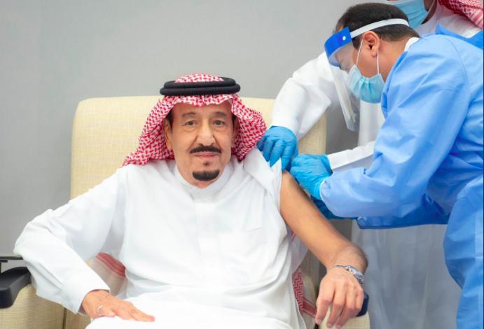 Saudi king receives first dose of a coronavirus vaccine