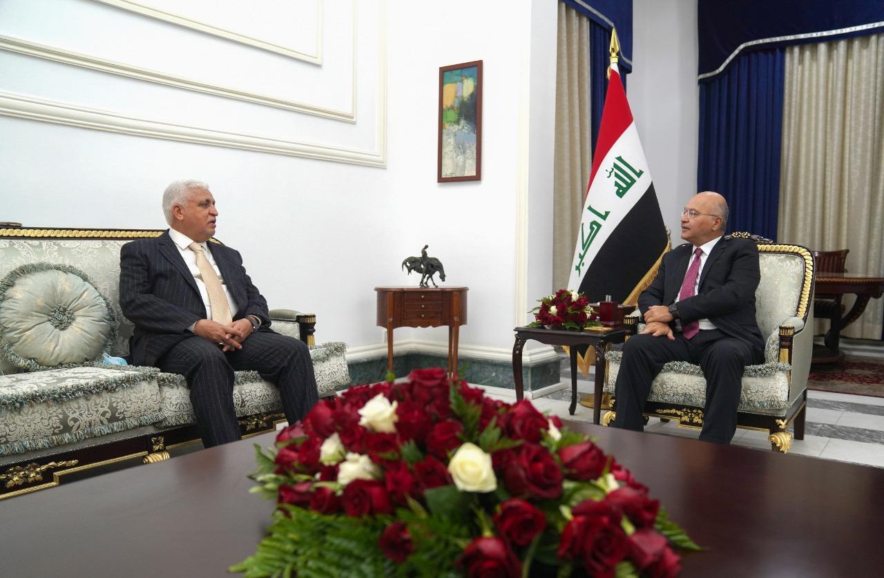 الرئيس العراقي والفياض يؤكدان على رفض التدخل بشؤون العراق الداخلية