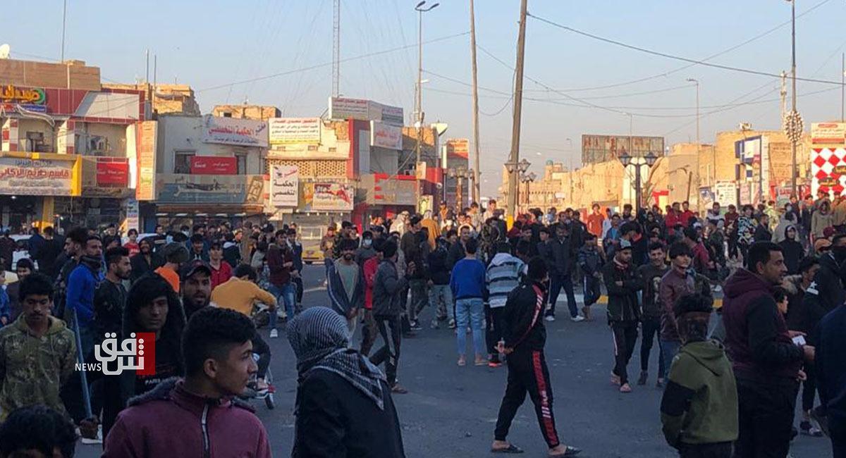 عودة التظاهرات لساحة الحبوبي في الناصرية
