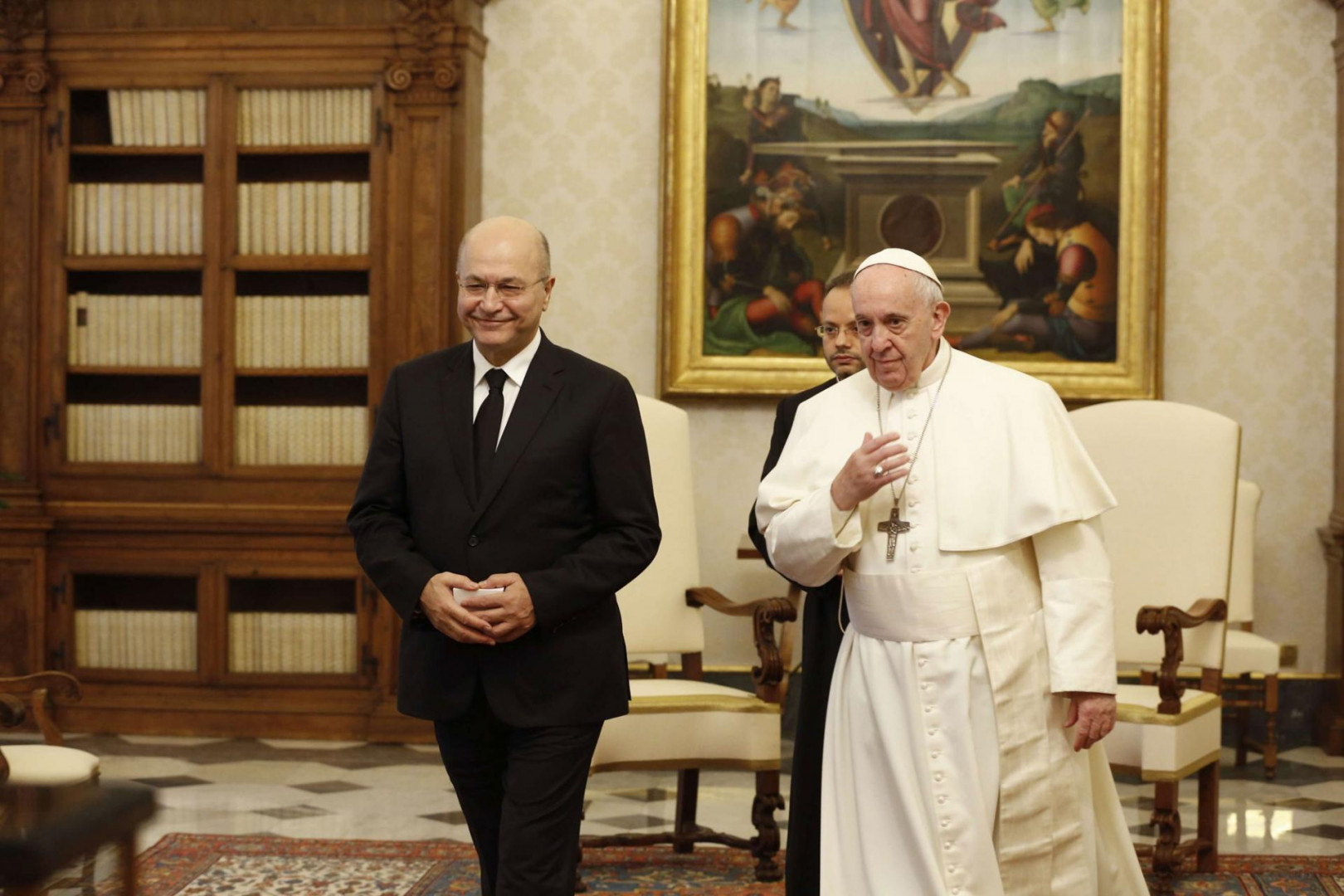An Italian security delegation arrives in Iraq to assess the situation before the pope's visit