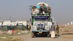 الهجرة العراقية تبدأ بإخلاء آخر مخيمات النازحين جنوبي الموصل