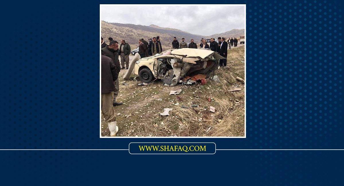 وفاة شخص وإصابة آخرين بحادث مروّع في السليمانية (صور)