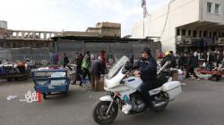 صور.. باعة متجولون يعطلون قلب بغداد التجاري