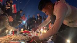 صور.. كركوك توقد الشموع على أرواح ضحايا تفجيري بغداد