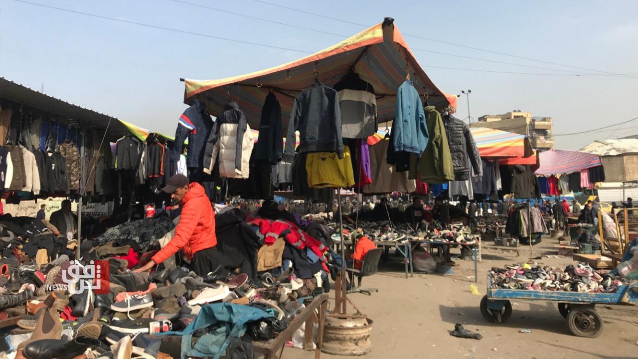 """بعد 3 أيام من تفجيره.. حياة خوف وترقب تعود لسوق """"البالة"""" وسط بغداد (صور)"""