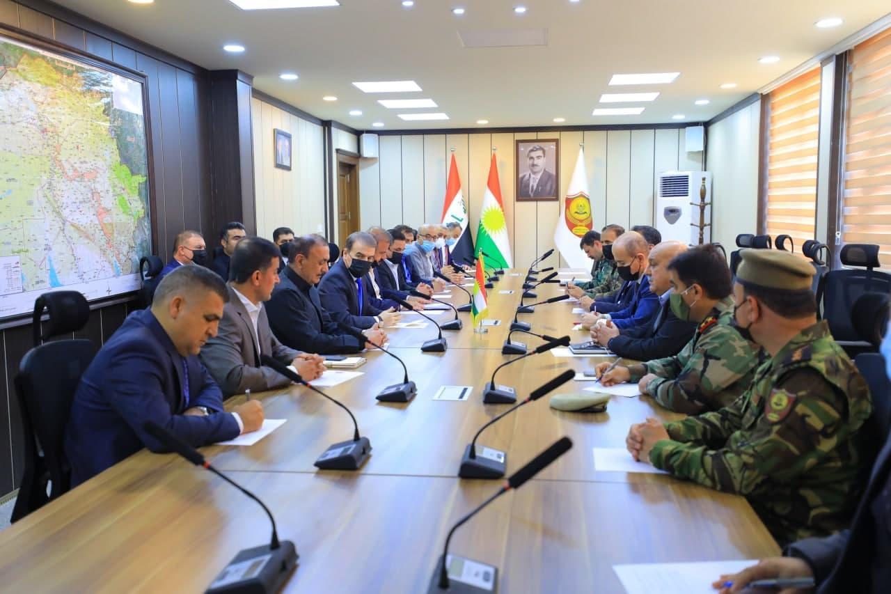"""وفد رفيع من برلمان كوردستان يزور البيشمركة ويبحث ملفات """"مهمة"""""""