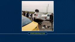 """10 مصابين بحادث سير """"مروع"""" على طريق بغداد - كركوك"""