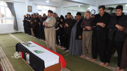 صور .. السليمانية تصلي على جثمان الهنداوي قبل تشييعه في بغداد ودفنه بكربلاء
