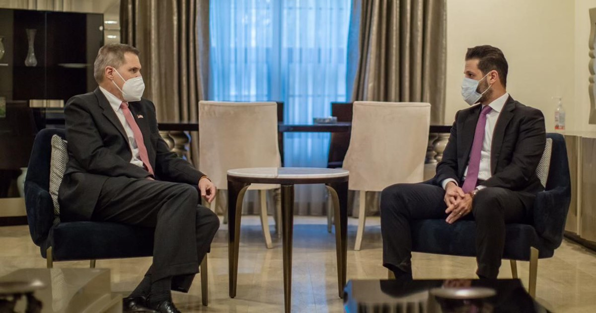 Talabani and Tueller discuss the path of negotiations between Erbil and Baghdad