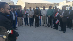 Dhi Qar Electricity employees organized a protest demanding salaries disbursement